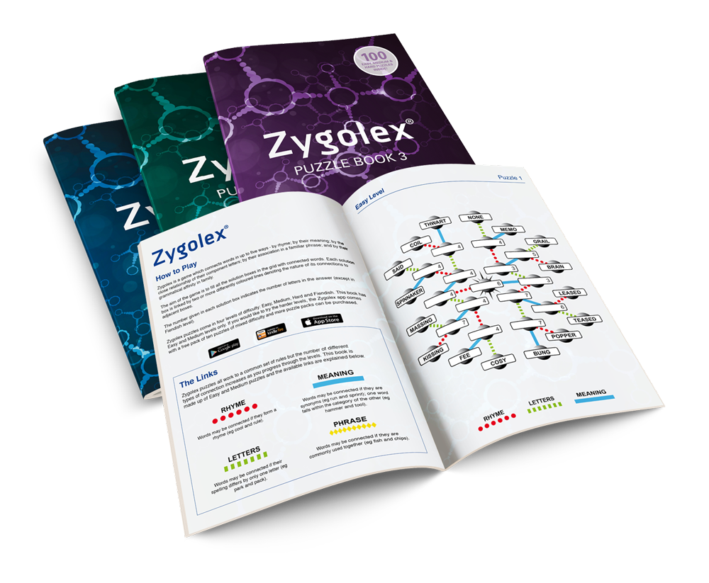 Zygolex printed books